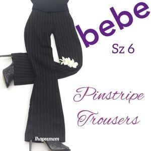 bebe Pinstripe Pants Size 6